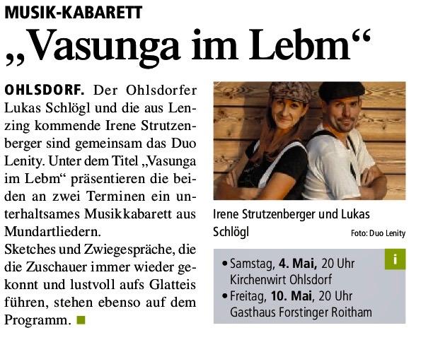 Quelle: Tips Gmunden/Ausgabe18/2019
